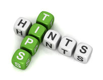 Tips and hints cubes concept 3d illustration Royalty Free Stock Photo