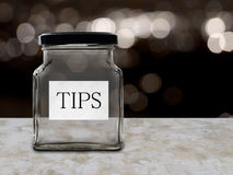 Tips jar empty in night club, bar etc. Royalty Free Stock Photography