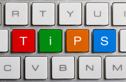Tips On Keyboard Royalty Free Stock Photography