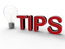 Tips light bulb concept Stock Photos