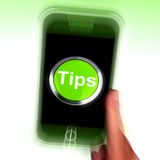Tips Mobile Means Internet Hints And Suggestions Royalty Free Stock Images