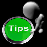 Tips Pressed Means Suggestions Pointers And Guidance Stock Images