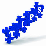 Tips Puzzle Showing Tricks And Hints Royalty Free Stock Photo