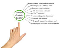 Tips for Resolving Conflict. Presenting Tips for Resolving Conflict Royalty Free Stock Image