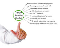 Tips for Resolving Conflict Royalty Free Stock Photo