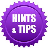 Hints and tips seal Stock Photography