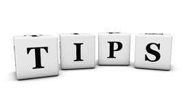 Tips Sign On Cubes Stock Photography