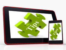Tips Smartphone Means Online Hints And Suggestions Royalty Free Stock Photography