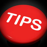 Tips Switch Shows Help Suggestions Or Instructions. Tips Switch Showing Help Suggestions Or Instructions Stock Images