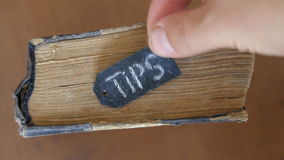 Tips stock footage