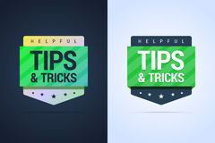 Tips and tricks banners. Flat and gradient styles. Vector illustration Stock Image