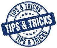 Tips & tricks blue grunge round vintage  stamp. Tips & tricks blue grunge round vintage rubber stamp Stock Photo