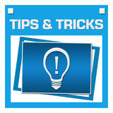 Tips And Tricks Blue Squares Inside Stock Photo