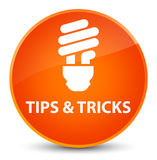 Tips and tricks (bulb icon) elegant orange round button Royalty Free Stock Photography
