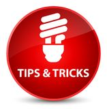Tips and tricks (bulb icon) elegant red round button. Tips and tricks (bulb icon)  on elegant red round button abstract illustration Royalty Free Stock Photography