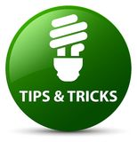 Tips and tricks (bulb icon) green round button Royalty Free Stock Photos