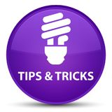 Tips and tricks (bulb icon) special purple round button Royalty Free Stock Photo