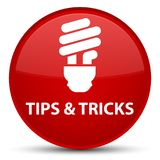 Tips and tricks (bulb icon) special red round button Royalty Free Stock Photo