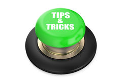Tips and Tricks green push button Royalty Free Stock Photography