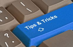 Tips and tricks. Key for tips and tricks royalty free stock photo