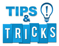 Tips And Tricks Professional Blue With Symbol Stock Images