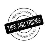 Tips And Tricks rubber stamp Stock Photo