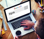 Tips and Tricks Skill Expert Support Assistance Help Concept Stock Image