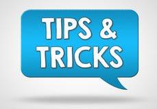 Tips and Tricks. Spreech balloon illustration Royalty Free Stock Image