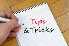 Tips&tricks text concept Stock Photos