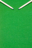 Tips of two billiard cues Royalty Free Stock Image