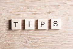Tips word concept Stock Images