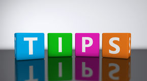 Tips Word On Cubes Stock Images