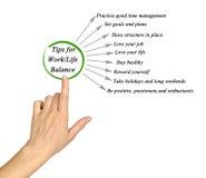 Tips for work/life balance Royalty Free Stock Image