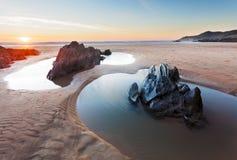 Combesgate strand Devon Arkivbilder