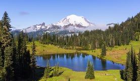 Tipsoo Lake, Mt Rainier NP. Stock Photos