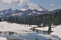 Tipsoo Lake and Mt. Ranier Royalty Free Stock Images