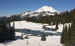 Tipsoo Lake Naches Peak Loop Mt Rainier Cascade Mountain Range Stock Photo