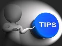 Tipt Gedrukt toont Begeleidingssuggesties en Raad Stock Foto's