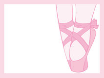 Tiptoe Ballet. Perspective of pink tiptoe ballet Royalty Free Stock Images