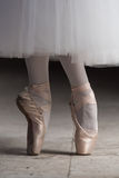Tiptoe in pointe shoes Stock Photography
