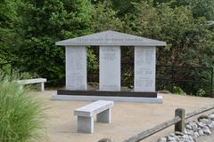 Tipton County Veteranen-Denkmal, Covington, TN Lizenzfreies Stockfoto