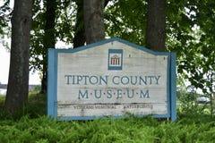 Tipton okręgu administracyjnego muzeum i weterana pomnik, Covington Tennessee Zdjęcia Royalty Free