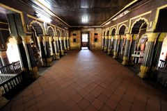 Tipu Sultan`s Palace in Karnataka, India Royalty Free Stock Photo