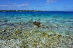 Tiputa kanal Rangiroa Tuamotu franska Polynesien royaltyfria foton