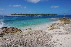 Tiputa passerande Rangiroa Tuamotu franska Polynesien royaltyfri foto
