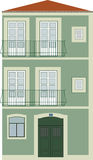 Tipycal Lissabon Haus Lizenzfreie Stockfotos