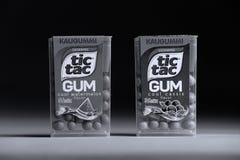 Tique Tac Gum, isolado, espaço da cópia foto de stock royalty free