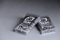 Tique Tac Gum, isolado, espaço da cópia imagens de stock