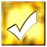 tiquetaque 3D quadro dourado ilustração royalty free