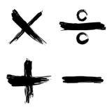 Tiquetaque, cruz, positivo, ícone negativo do Web Foto de Stock Royalty Free